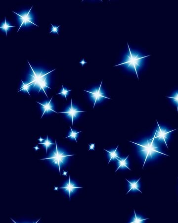 Bright sparkling background with several glowing and twinkling stars photo