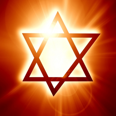 Star of David, representing the Jewish religious symbol Stock Photo - 14670065