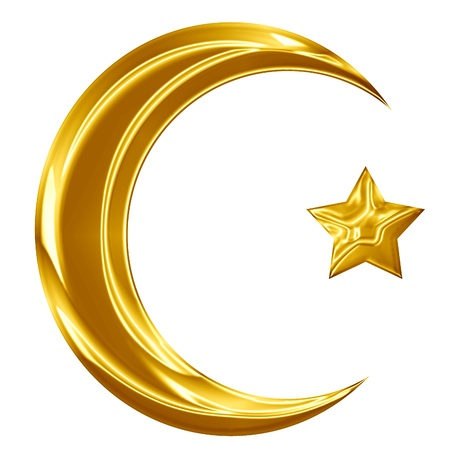 Islam sign with a crescent and a smaller star