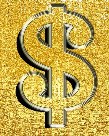 Dollar sign representing the united states common currency photo