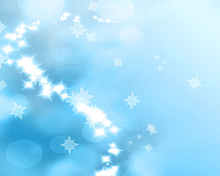 Winter background with added glitter and bokeh effects Stock Photo - 14670019
