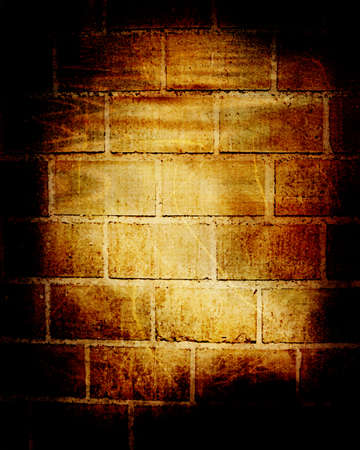 Grunge brick wall with some damage and cracks Stock Photo - 14776411