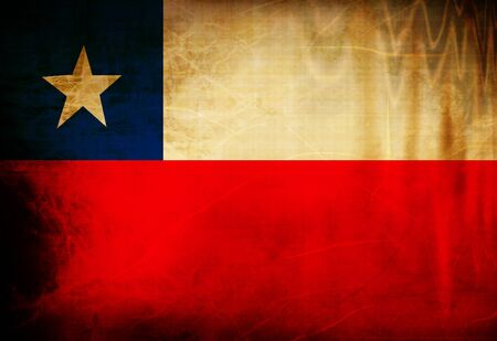 Chilean flag waving in the wind photo