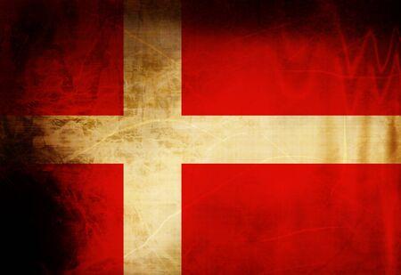 Danish flag waving in the wind photo