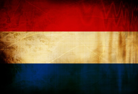 Dutch flag waving in the wind photo