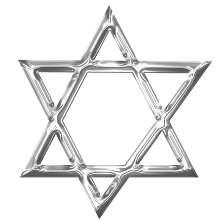 Star of David representing the jewish religious symbol photo