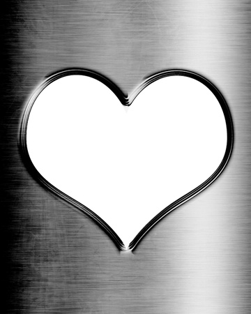 Metallic heart with some soft reflections and highlights Stock Photo - 14776384