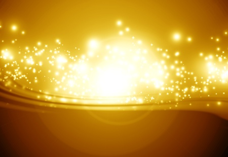 Golden sparkling background with intense glowing sparkles and glitter Stock Photo - 14776438