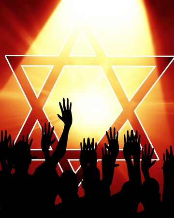 Star of David, representing the Jewish religious symbol Stock Photo - 14776433