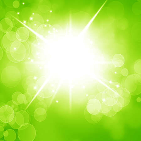 Green and fresh background with smooth lines and highlights Stock Photo - 14776353