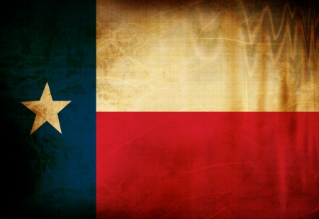 Texan flag waving in the wind Stok Fotoğraf - 14776365