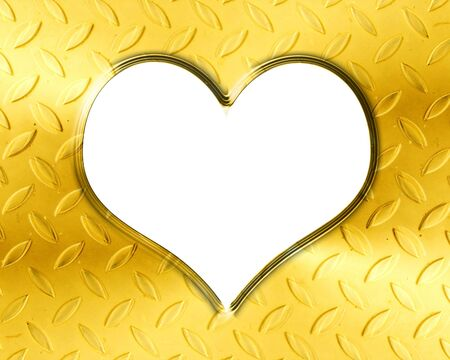 Golden heart with smooth lines and some faint reflections Stock Photo - 14776386