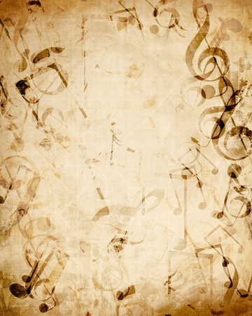 Old music sheet with musical notes Stock Photo - 14840853