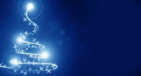 Abstract kerst boom op een blauwe achtergrond