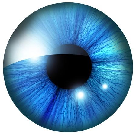 globo ocular: ?is humana com alguns destaques e reflex?