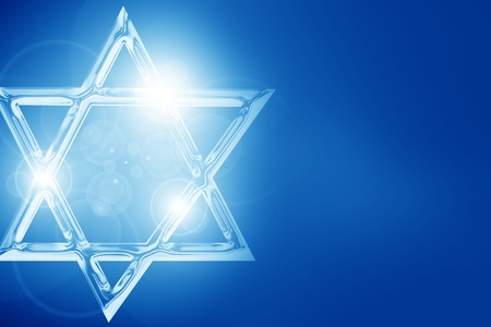 Star of David, representing the Jewish religious symbol Stock Photo - 14840220