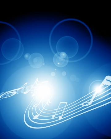 Colorful musical notes on a soft dark background photo