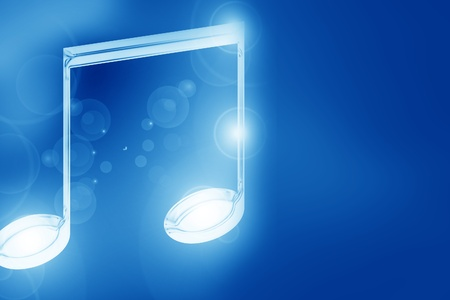 Colorful musical note on a soft dark background Stock Photo - 14840192