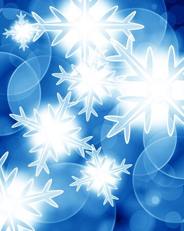 Winter background with some soft highlights and snow flakes Stock Photo - 14840525