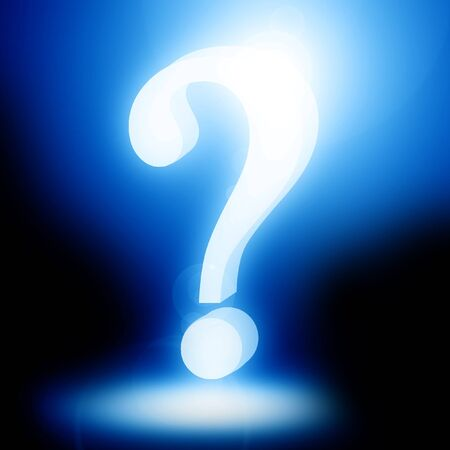 Question mark on a soft dark background Stock Photo - 14840191