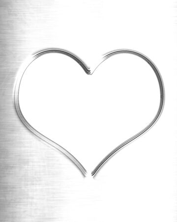 Metallic heart with some soft reflections and highlights Stock Photo - 14840242