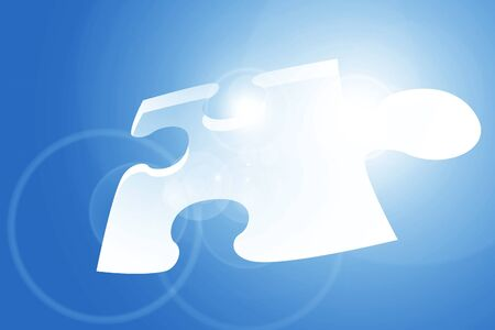 Glowing puzzle piece with some soft highlights Stock Photo - 14840171