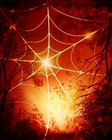 Halloween background with an intense orange glow Stock Photo - 14840850