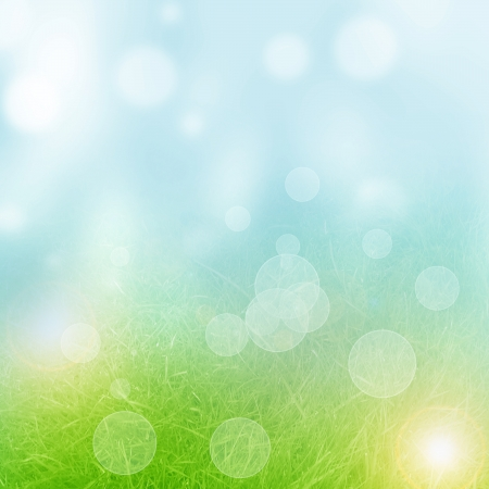 Green and fresh background with soft highlights and lines Stock Photo - 14840472