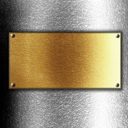 platinum: Golden or copper plate with some reflected lights and reflections Stock Photo