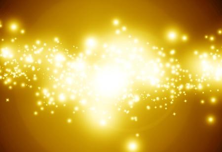 trails of lights: Oro scintillante sfondo incandescente con intensi bagliori e glitter Archivio Fotografico
