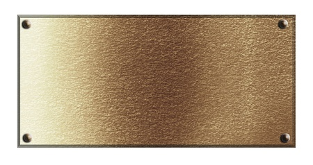 the plaque: Brass placa de caracter�sticas con algunas luces reflejadas y reflexiones