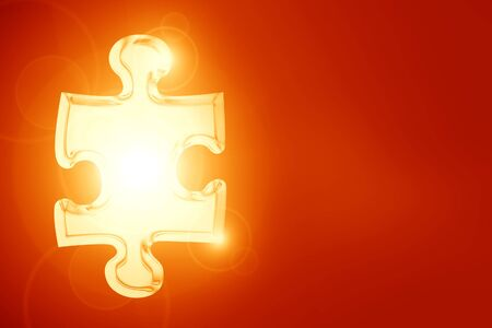 Glowing puzzle piece with some soft highlights Stock Photo - 14840178