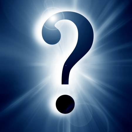 Question mark on a soft dark background Stock Photo - 14840467