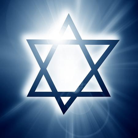 Star of David, representing the Jewish religious symbol Stock Photo - 14840460