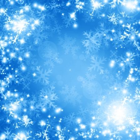 nuit hiver: Winter background avec quelques reflets tendres et flocons de neige