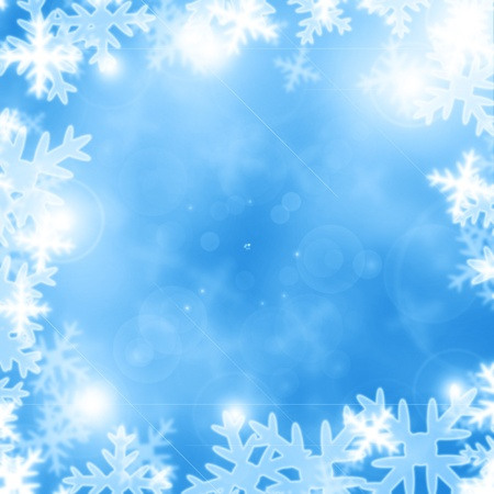 Winter background with some soft highlights and snow flakes Stock Photo - 14840285