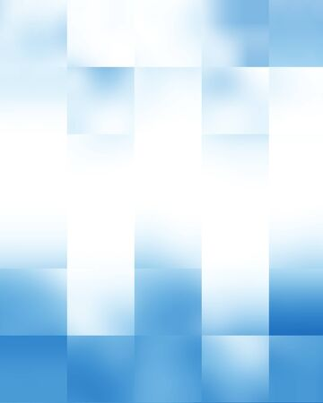 Blue rectangular glowing blocks background with some soft highlights photo