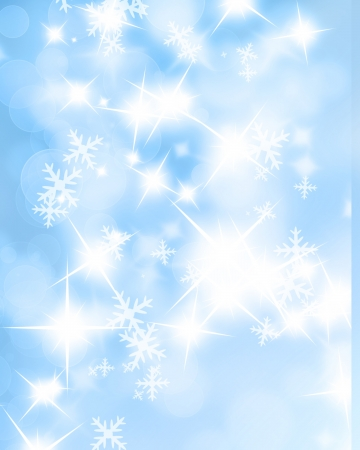 Winter background with added glitter and bokeh effects photo