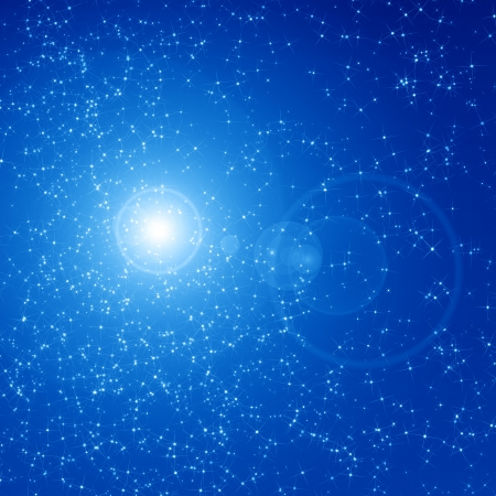 Blue night sky filled with twinkiling stars Stock Photo - 14840868