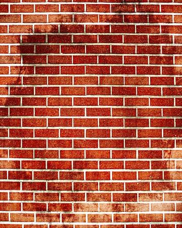 muro: Grunge muro di mattoni con un po 'di danni e crepe