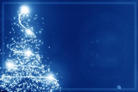 Abstract christmas tree auf einem blauen Hintergrund Standard-Bild - 14949275