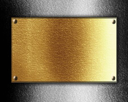 Golden or copper plate with some reflected lights and reflections Stock Photo - 14949513