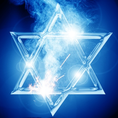 Star of David, representing the Jewish religious symbol photo