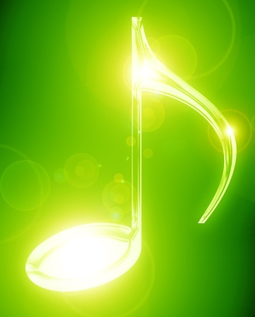 Colorful musical note on a soft dark background Stock Photo - 14949158