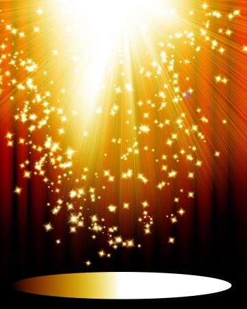 b�hne: Stage lights mit Raum f�r eine hinzugef�gte Objekt