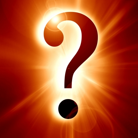 Question mark on a soft dark background Stock Photo - 14949239