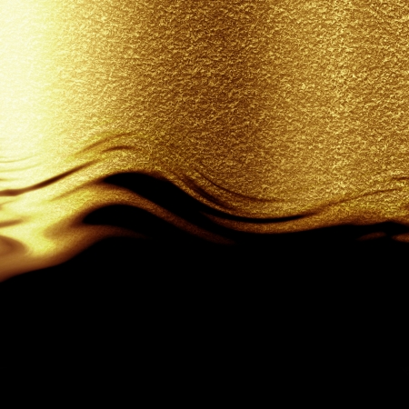 solid line: Golden background with some reflected light and highlights Stock Photo