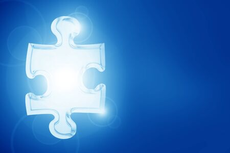 Glowing puzzle piece with some soft highlights Stock Photo - 14948741