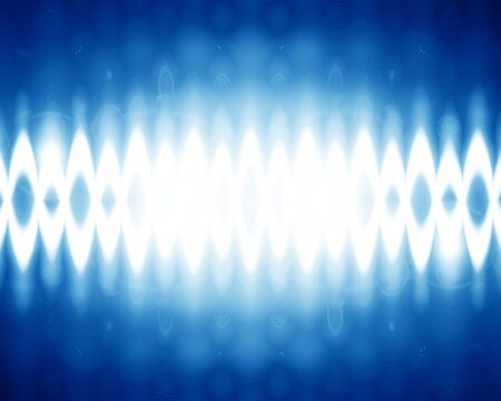 sound wave on a bright blue background Stock Photo - 14949271