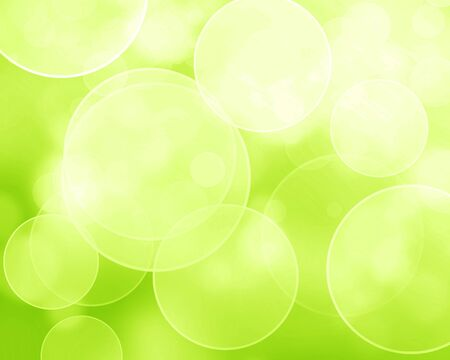 Green and fresh background with soft bokeh effects and white overlapping circles Stock Photo - 14949164